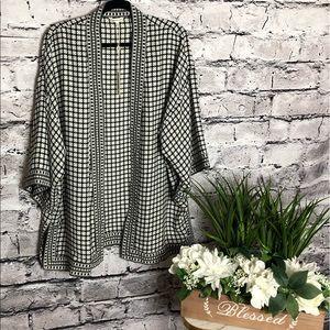 Max Studio Jackets & Coats - Max Studio Kimono. Black/white. Size XL